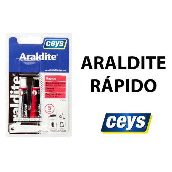 Adhesivo Araldit rápido.