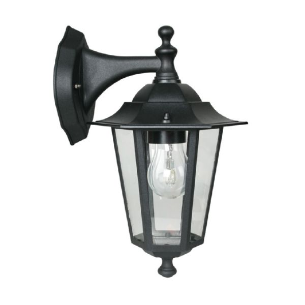 Aplique exterior Classic 60 W descendente color negro