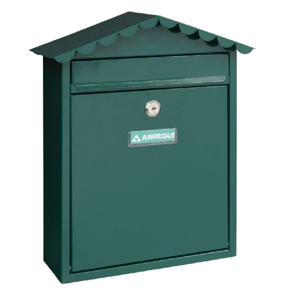 Buzón de exterior Mod. Visit. + limpiador. Verde.