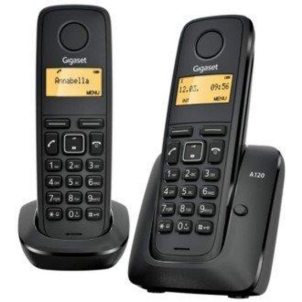 GIGASET Telefono inalambrico negro DUO A120